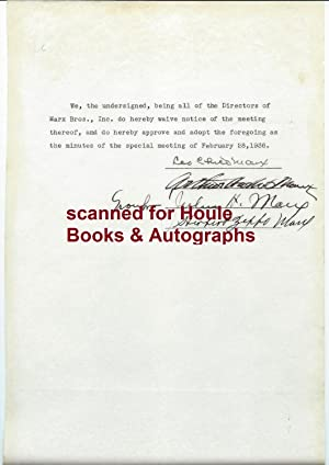 Document Signed. 1936