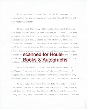 Typed Manuscript Signed