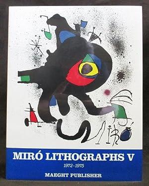 Joan Miro, Lithographs. Volume 5, 1972-1975: Cramer, Patrick