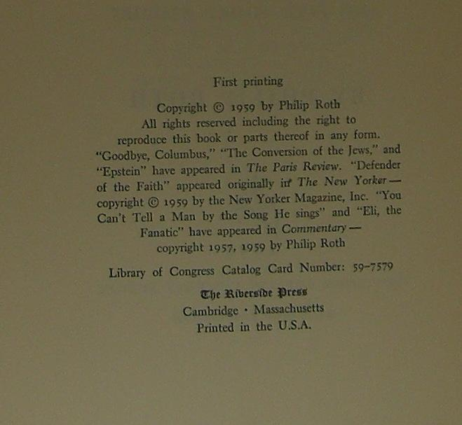 philip roth goodbye columbus pdf