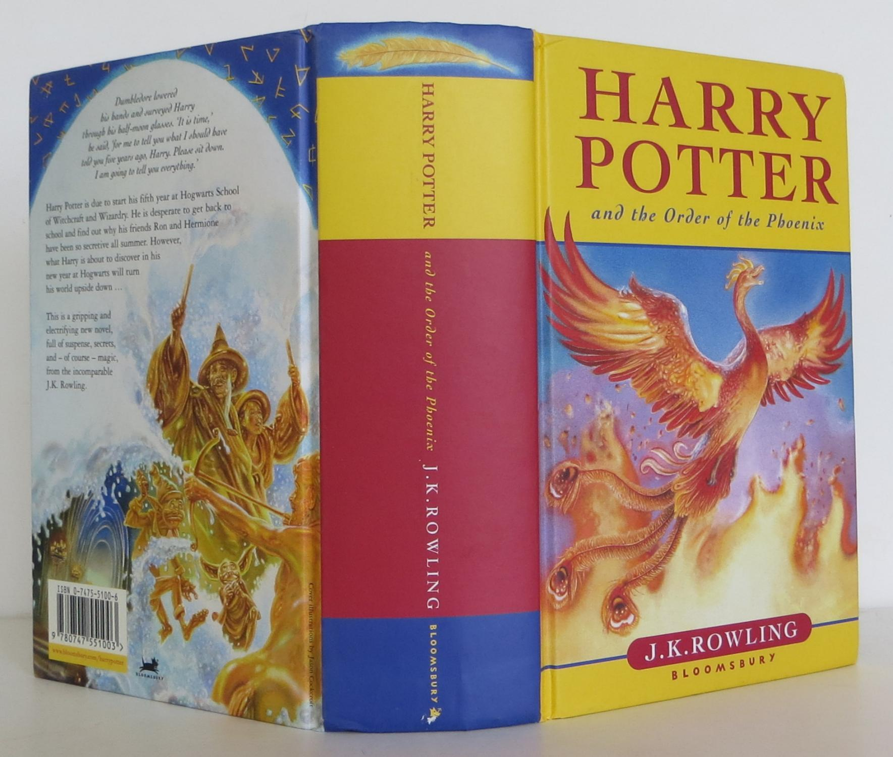 harry potter and the order of the phoenix by rowling j k bloomsbury 9780747551003 hardcover. Black Bedroom Furniture Sets. Home Design Ideas