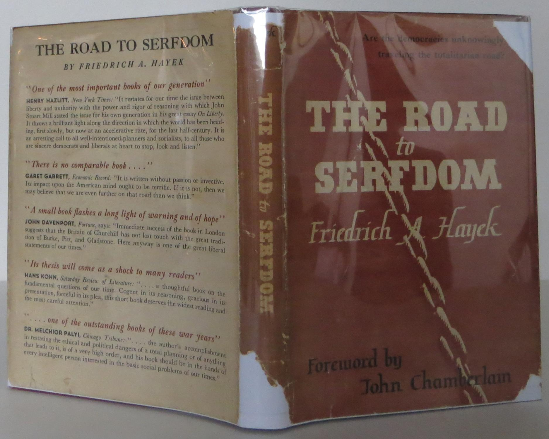 road to serfdom 100 quotes from the road to serfdom: 'probably it is true enough that the great majority are rarely capable of thinking independently, that on most quest.