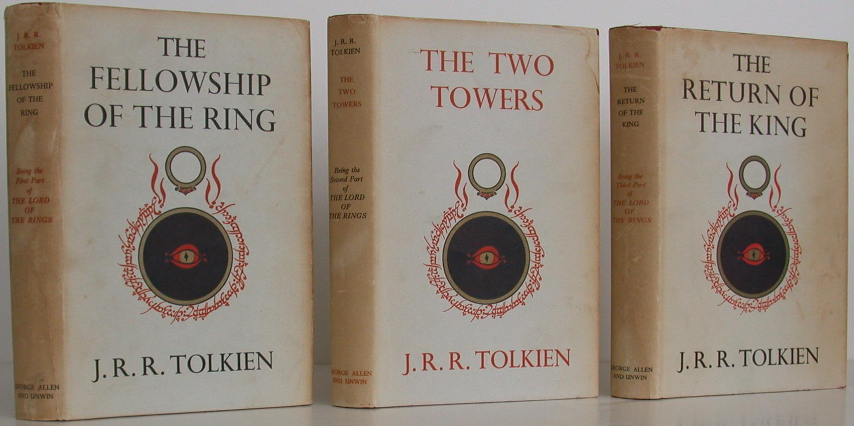 The Fellowship of the Rings, The Two Towers, and The Return of The King Tolkien, J. R. R. Very Good Hardcover