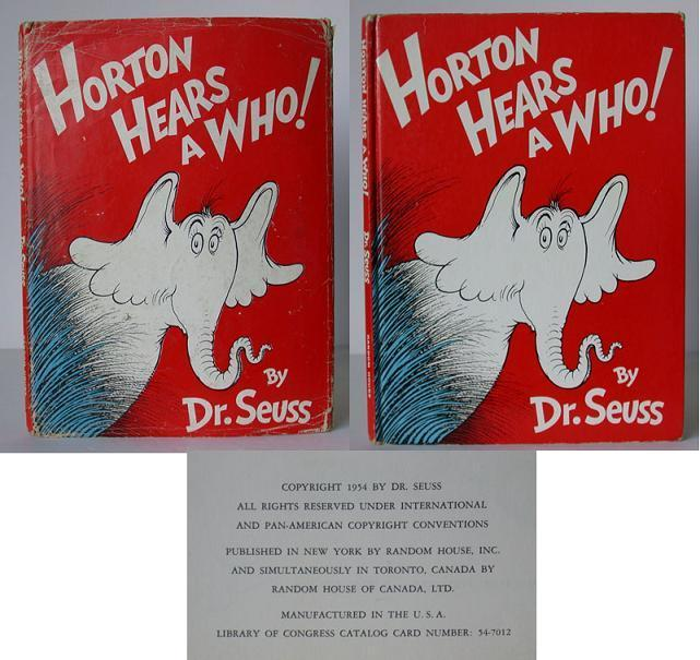 Horton Hears a Who! Seuss, Dr. Very Good Hardcover