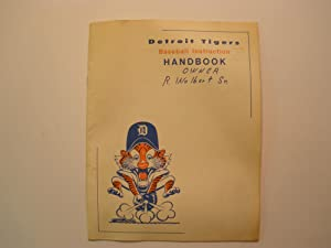 DETROIT TIGERS BASEBALL INSTRUCTION HANDBOOK