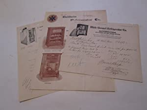 REFRIGERATOR COMPANY LETTERHEADS (1890's)