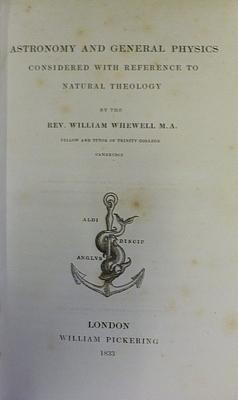 Astronomy And General Physics Considered With Reference To Natural Theology: WHEWELL, Rev. William