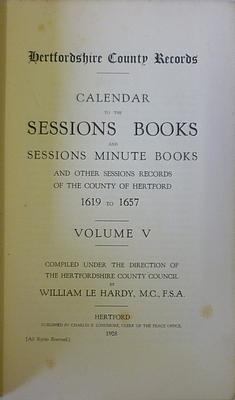 Hardy William Le: Calendar To The Sessions Books And Sessions Minute Books And Other Sessions ...