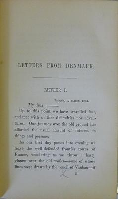 The Danes in Camp: Letters from Sonderborg: Auberon Edward William Herbert