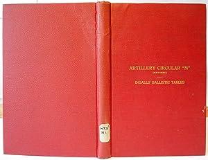 """Artillery Circular """"M"""", Ingalls Ballistic Tables: INGALLS Colonel James"""