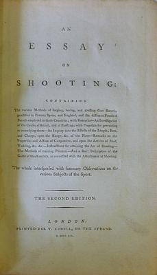 An Essay On Shooting: ACTON J.