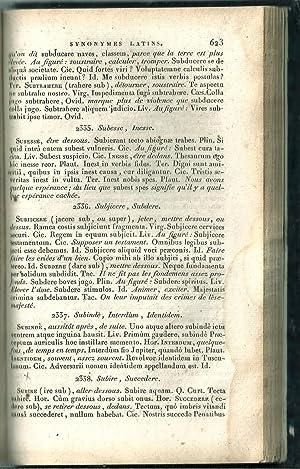Synonymes latins, et leurs différentes significations, avec des exemples tirés des ...