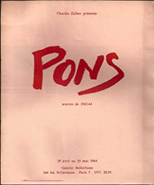 Pons. Oeuvres 1963-1964.