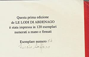 Le Lodi di Abdenago: Lucio Saffaro - Giuseppe O. Longo (Introduzione)