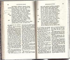 Aschyli Choephorae - Ed. Bothe - Ed Wellauer: Eschyle - Aeschylus - Friedrich Henrich Bothe - ...