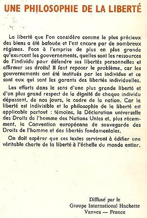 Une philosophie de la liberté: Robert K. Woetzel