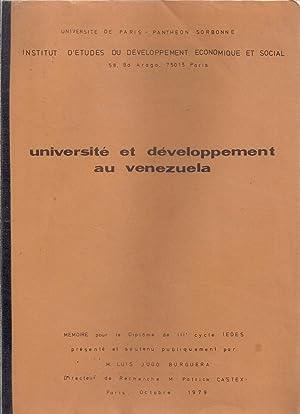 Université et développement au Venezuela: Luis Jugo Borguera