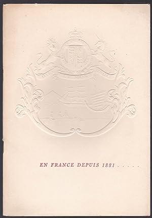 En France depuis 1881 . et aujourd'hui 11,Place Vendôme à Paris, The Hongkong and...