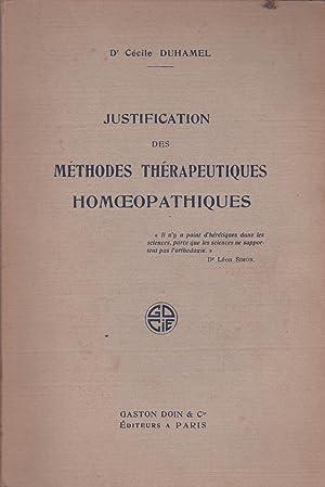 Justification des méthodes thérapeutiques homoepathiques: Cécile Duhamel