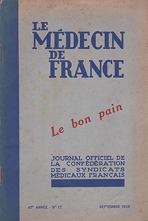 Le bon pain. Le médecin de France, sept. 1935: Julien Marchand - Lenglet
