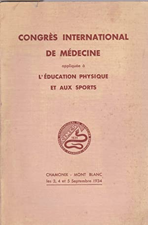 Rapports du Congrès international de médecine appliquée à l'&...