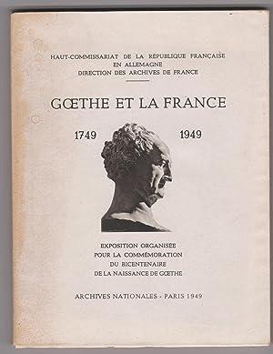 Goethe et la France (1749-1949): Michel François -