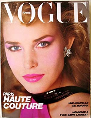VOGUE PARIS N° 624. Mars 1982. Hommage à Yves Saint-Laurent.