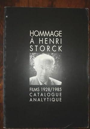 Hommage à Henri Storck. Films 1928 - 1958. Catalogue analytique.: AUBENAS Jacqueline
