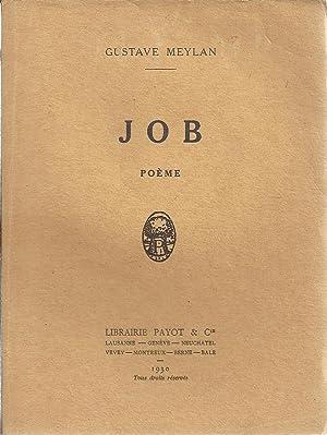 Job. Poème.: Gustave Meylan