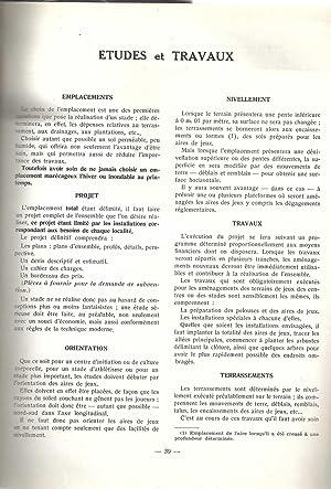 L'équipement sportif de la France par commune. Gennevilliers.: VILLETTE Marcel