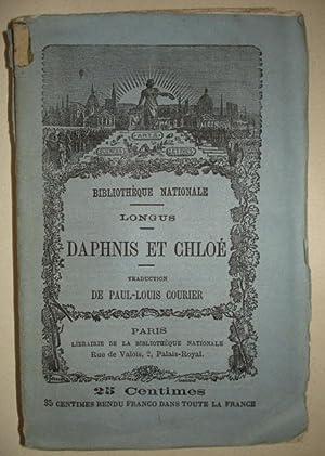 DAPHNIS ET CHLOE, suivi de LETTRE A M. RENOUARD, LIBRAIRE, SUR UNE TACHE FAITE A UN MANUSCRIT DE ...