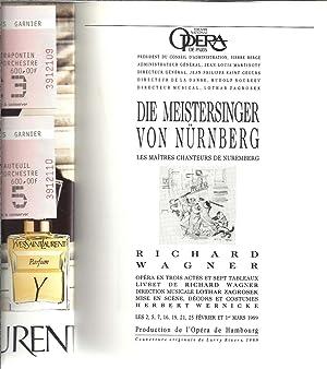 DIE MEISTERSINGER VON NURNBERG / Les maîtres chanteurs de Nuremberg. Opéra de ...