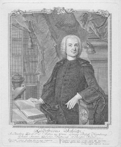 07.05.1719 - 01.07.1784). Theologe und Historiker, Professor: Schütze, Gotfried -