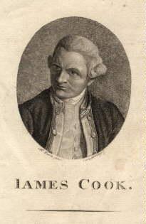 1728 - 1779), englischer Seefahrer. Kupferstich im: Cook, James -