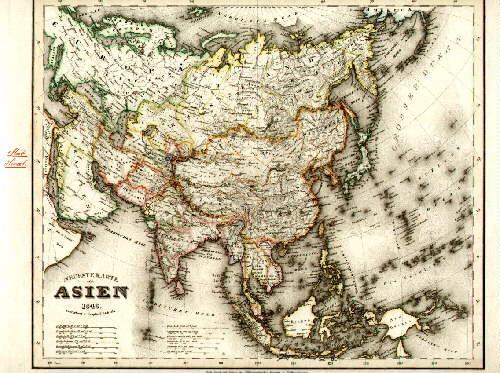 Landkarte Asien.Neueste Karte Von Asien Gezeichnet Von
