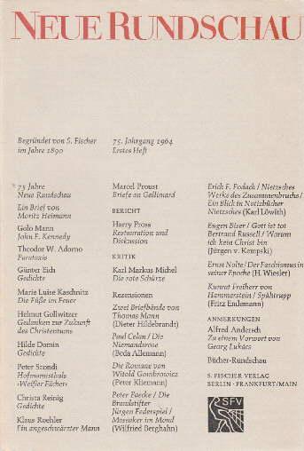75jahrgang 1964 Erstes Heft