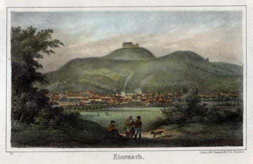 Gesamtansicht. Lithographie von Ed. Pietzsch & Co.: Eisenach -