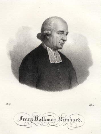 1753 -1812) Deutscher Theologe und Philosoph. Kreidelithographie: Reinhard, Franz Volkmar
