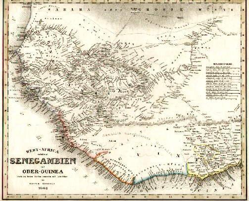 West-Africa enthaltend Senegambien und Ober-Guinea. Nach den: Afrika -