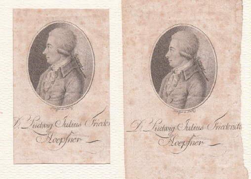 03.11.1743 - 02.04.1797). Deutscher Jurist. Punktier-Kupferstich von: Höpfner, Ludwig Julius
