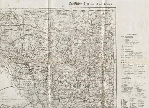 Husum Karte.Karte Des Deutschen Reiches Grossblatt 7