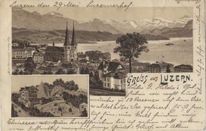 Ansichtskarte 1898 Gruss Aus Zvab