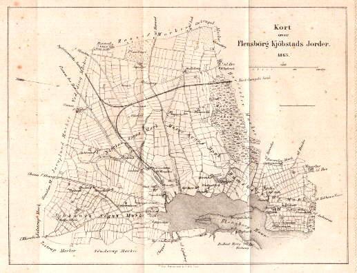 Flensburg Karte.Karte Der Umgebung Von Flensburg Zvab
