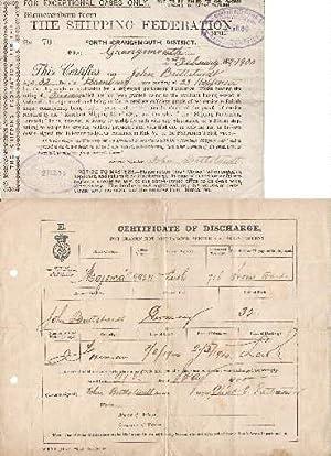 1. Memorandum from The Shipping Federation, fouth: Schiffsdokumente -