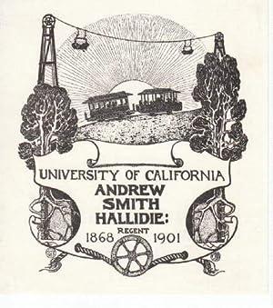 Exlibris für Andrew Smith Hallidie. University of: Randall Wheelan, Albertine