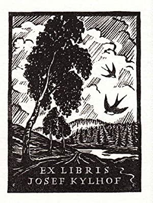 Exlibris für Josef Kylhof. Holzschnitt von Michael: Florian, Michael -