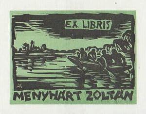 Exlibris für Zoltan Menyhart. Holzschnitt von Karoly: Andruskó, Károly -