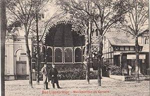 Musikpavillon im Kurpark. Ansichtskarte in Lichtdruck. Abgestempelt: Bad Lippspringe -