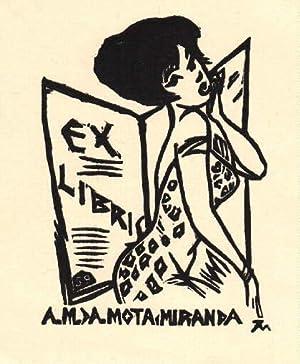 Exlibris für A.M.A.Mota Miranda. Holzschnitt von Jocelyn: Mercier, Jocelyn -