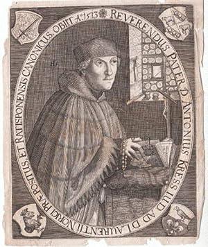 Deutscher Humanist. Kupferstich.: Kress zu Kressenstein, Anton - (1478 - 1513)